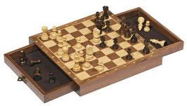 Schachspiel - magnetisch Holz mit Schublade
