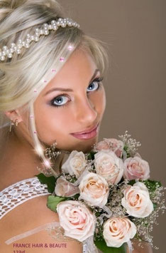 Strass cheveux cristal ROSE CLAIR (4mm)