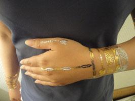 Tatouage temporaire métallique (7004-COYH027) 21cm X 15cm