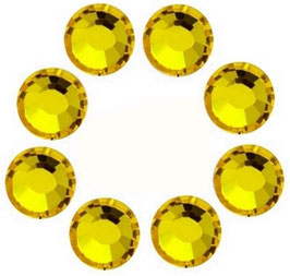 8 Strass JAUNE CITRON SWAROVSKI(4mm)