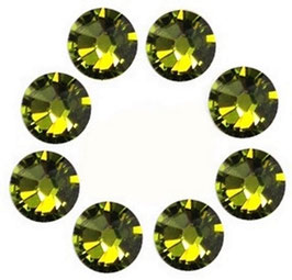 16 CRYSTALS OLIVE GREEN WITH SWAROVSKI ELEMENTS (4mm)
