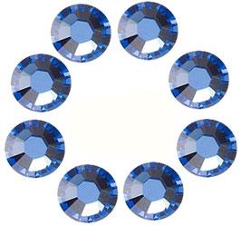 16 BLUE SAPHIR CRYSTALS MADE WITH SWAROVSKI ELEMENTS (4mm)