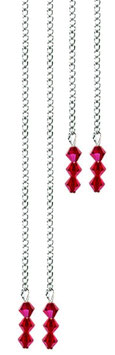 Chaines strass ROUGE SIAM