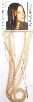 Extensions naturelles ornées de strass Swarovski. BLOND CLAIR