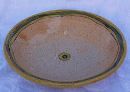 Schale - 1131 gelb grün -  ∅ 28,5 cm, H.6cm.