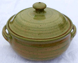 Auflauf - 1131 grün Pi- ∅ 21,5 cm, H. mit Deckel 18 cm