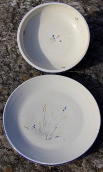 Suppen Teller- blaue Sträußchen, ∅ 21 cm, H.5 cm. Oberer