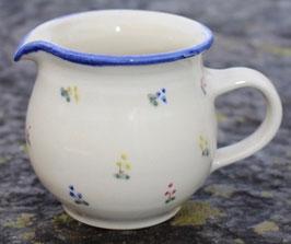 Krug rund -blaue Blumen- ∅ 12,5 cm H. 10 cm, 400 ml