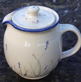 Kaffeekanne - blaue Blumen-  ∅ 10 cm, H. 15,5 mit Deckel 1,2 Liter