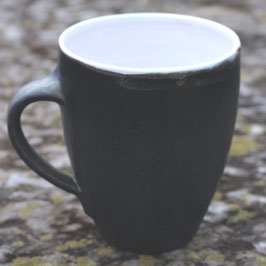Becher Manu  - WM Anthrazit, innen weiß- ca. ∅ 9,5cm, H. 11cm. Ca. 350 ml