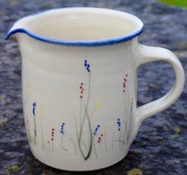 Krug gerade -blaue Gräser- ∅ 11,5 cm H. 12,5 cm, 0,75 Liter