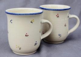 Becher Rita - blaue Blumen - . ∅ 9 cm, H.9,5 cm. 300 ml