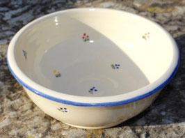 Müsli - blaue Blumen - ∅ 17 cm, H. 6,5 cm