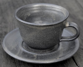 Tasse Unterteller  - Ina Anthrazit- . ∅ 10 cm, H. 7 cm. 250 ml