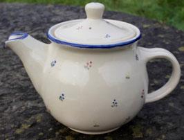 Teekanne,  - blaue Blumen -. 1,3 Liter.