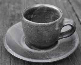 Espresso mit Unterteller- Anthrazit - ∅6 cm , H.5,5 cm.