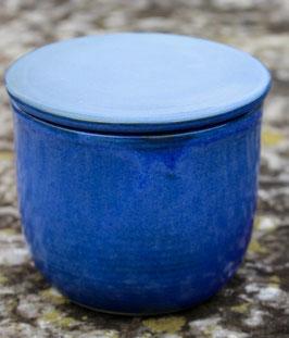 Wasser Butterdose - blau-  ca.∅ 12,5 cm, H. 10 cm. Für 250 Gramm