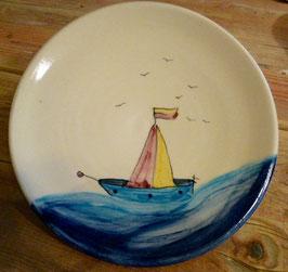 Kinder Teller flach - Schiff - ∅ 20,5 cm