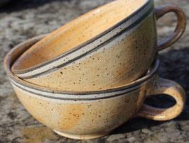 Caffee Link - 1131 schwarz weißer Rand -  ∅ 9,5cm,  H. 11cm, 350 ml