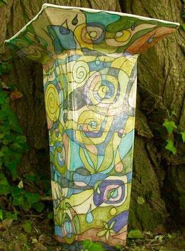 Vase - Wald Quadrat / ∅ oben 20cm / H. 52 cm