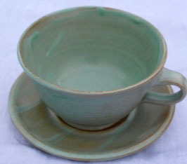 Caffee Unterteller  - Türkis-  ∅ 13,5cm,  H. 7,5 cm, 300 ml.