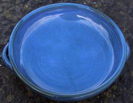 Auflauf  - blau -. ∅ 24,5 cm, H. 6 cm