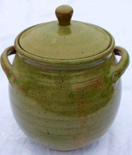 Topf, Aufbewahrung - 1131 grün Pi- ∅ 14 cm, H. mit Deckel 22 cm