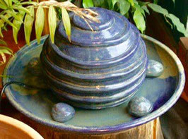 Zimmer Springbrunnen- blau meliert Modi. Ringe -   ∅ ca. 34 cm. Mit Pumpe