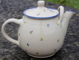 Teekanne - blaue Blumen -. 2 Liter.