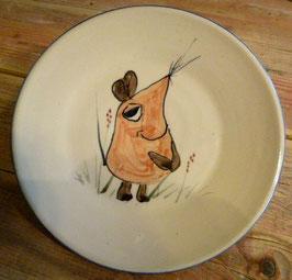 Kinder Teller flach -  Maus- ∅ 20,5 cm, H. 5 cm