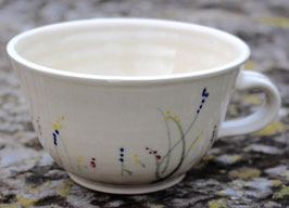 Caffee - blaue Gräser o. Rand - ca.  ∅ 13 cm H. 8 cm, 350 ml