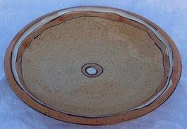 Schale - 1131 orange weiß -  ∅ 27,5 cm, H.4cm.