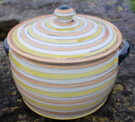 Topf - Orange, Gelb, Weiß- ∅ 22,5 cm, H. 20 cm. Innen mit oder ohne Glasur.