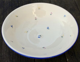 Salat Schale - blaue Blumen - ∅ 24 cm, H. 6,5 cm