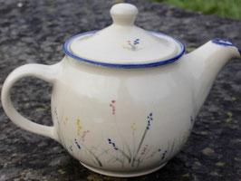Teekanne,  - blaue Gräser -. 1,2 Liter.