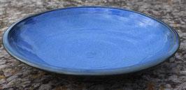 Schale - blau - ∅ 27,5 cm, H. 5 cm.