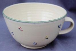 Tasse Ilse - grüne Blumen-  ca.∅ 16 cm, H. 7,8 cm, 500 ml