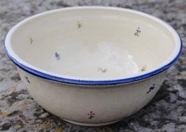 Schüssel  - blaue Blumen -. ∅ 20 cm, H. 9 cm