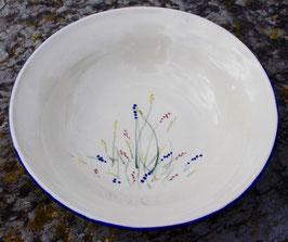 Schale - blaue Gräser - ∅24,5 cm, H.6,5 cm