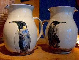 Krug -Pinguine. ∅ / H. 23cm. 3 Liter