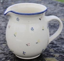 Krug rund -blaue Blumen- ∅ 12,5 cm H. 15 cm, 1 Liter