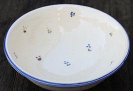 Salat Schale klein - blaue Blumen - ∅ 17 cm, H. 8 cm