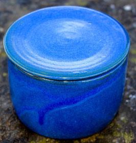 Wasser Butterdose klein - blau- ca. ∅ 9,7 cm, H. 8 cm. Für 125 Gramm. Gleiche wie linkes Bild