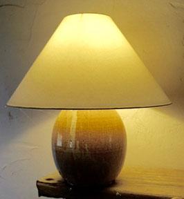 Lampe, Keramikfuß. H. ca. 55 cm