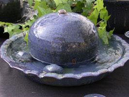 Zimmer Springbrunnen- blau meliert -   ∅ ca. 34 cm. Mit Pumpe