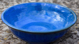 Schale z.B. Salat - blau - ∅ 18 cm, H.6 cm.