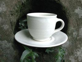 Espresso mit Unterteller. weiß ∅ , H.cm. Unterteller ∅