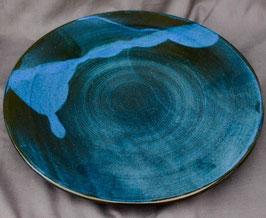 Schale  - 1131 blau -. ∅ 37cm, flach