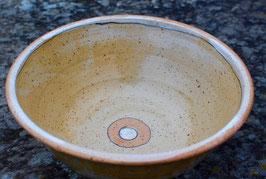 Schüssel  - 1131 orange, weiß -. ∅ 21,5 cm, H. 8 cm