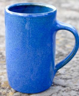 Becher schlank -Blau -  ca.∅ 7,7cm,  H. 13,0 cm, 300 ml.
